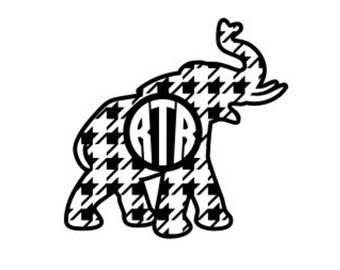 Hounds-tooth Elpehant Monogram SVF
