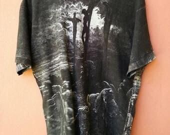 Vintage Full Print T Shirt Pop Art