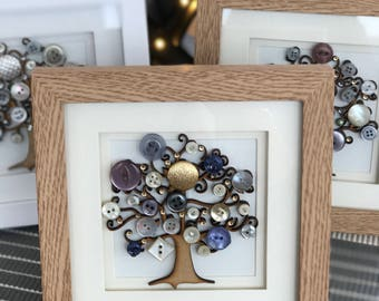 Handmade Vintage Button Tree