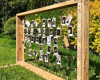 Rustic wedding photo guest book frame