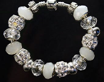 Clear and White Beads