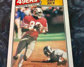 1987 JERRY RICE - Topps All-Pro Football Card- # 115 -San Francisco 49ers