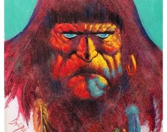 Conan The Barbarian ORIGINAL ACRYLIC PAINTING after frazetta sawage sword