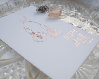 A6 Rupi Kaur Poem Rose Gold Foil Printed