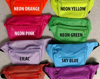 Custom Fanny Waist Packs - Bridesmaid, Bachelorette, Neon, 90s