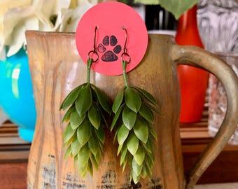 Faux Hop Earrings - Antiqued Copper Hooks