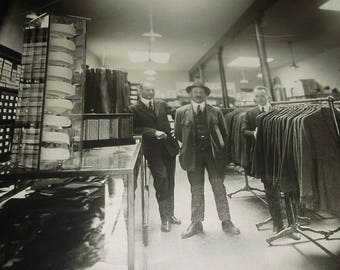 Antique Photograph of Peterman's Men's Furnishing Store
