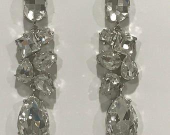 Austrian Crystal Cluster Earrings