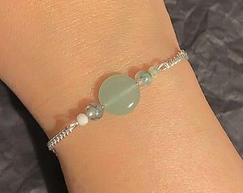 Jasper and new jade bracelet
