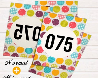 30% OFF!! Dot Dot Smile Facebook, Periscope Live Sales Numbers/ numbered cards; 000-999/ reverse number tags/ facebook live numbers