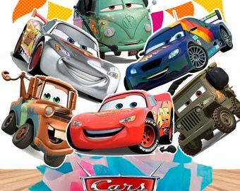 8 Cars Centerpieces Double-sided/Printable/Cars Cake Toppers/Cars Party/Instant Download
