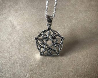 Ornate Pentacle Necklace - Sterling Silver