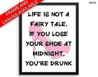 Drunk Wall Art Framed Drunk Canvas Print Drunk Framed Wall Art Drunk Poster Drunk midnight shoe fairy tale drunk art