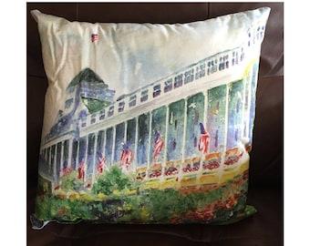 Grand Hotel on Mackinaw Island Throw Pillow