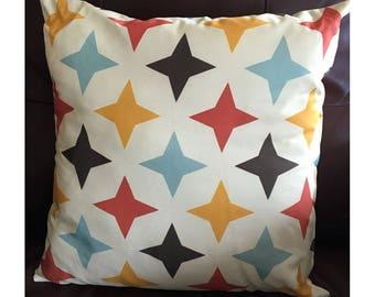 Yellow Mid Century Throw Pillow