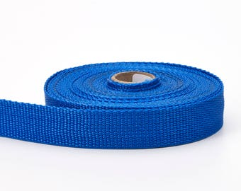 "Polypropylene webbing, 1"" Wide, 10 yds, Pacific Blue"