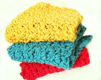 Handmade Cotton Crochet Washcloths