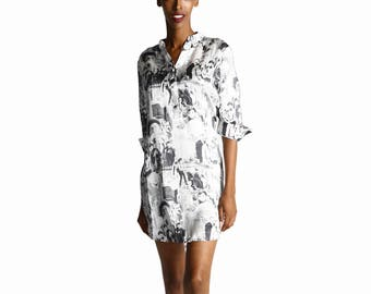 Manhattan Silk Sleepshirt - Women's Sleepwear Night Shirt