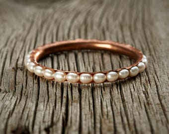 Freshwater Pearl Copper Bangle