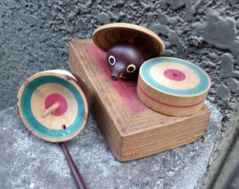 Vintage Tanuki Spinning Top