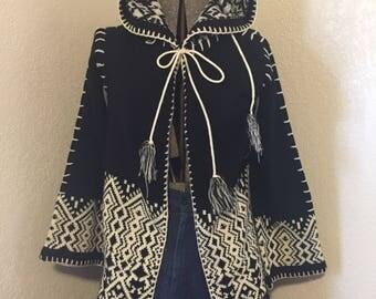 Vintage Hooded Cardigan