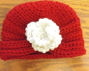 Newborn Girl Crochet Hat