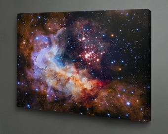 Hubble's 25th anniversary image print on canvas