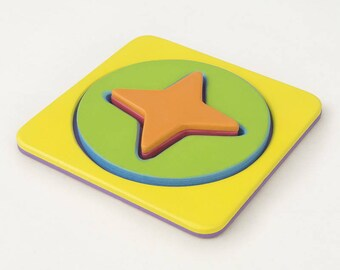 Wooden puzzle Star