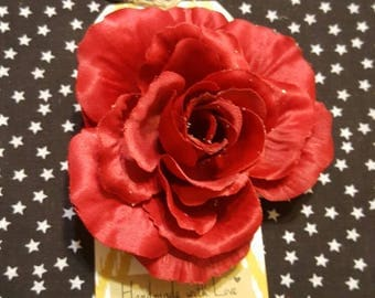 Rose Hair Flower Clip