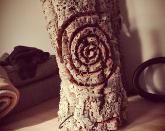 Natural cork lamp