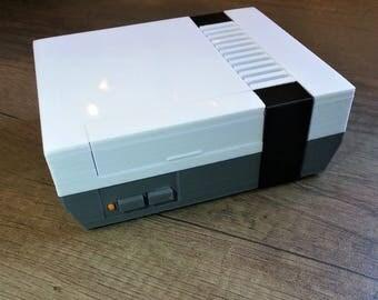 3D Printed NES Raspberry Pi Case + fan cutout in base