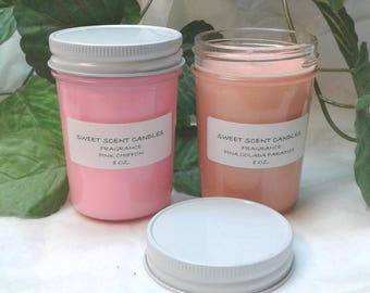 8 oz. Joy's Sweet Scent Handmade Eco Friendly Candles - 6 Intoxicating Scents - Pick Your Scent