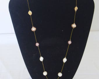 Pearl and Gold Statement Necklace