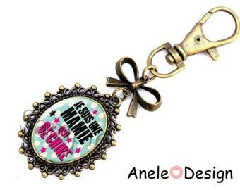 Key ring - Jewelry - gift bag for Grandma - blue