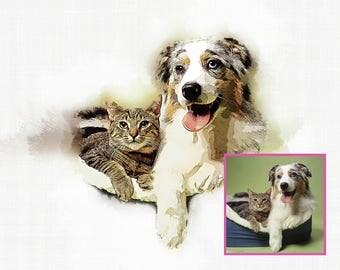 Custom pet portraits, custom portrait art, custom pet drawing, dog painted portrait, custom pet poster dog portrait custom custom pet prints