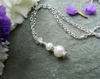 Freshwater Pearl Necklace, Pearl Necklace, Wedding, Bridesmaid, June Birthday, Pearl Jewellery