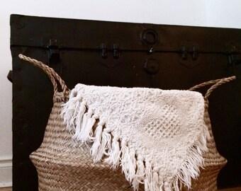 Crochet blanket | Vintage blanket | Knitted blanket | Boho blanket