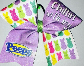 Chillin with my Peeps Cheer Bow