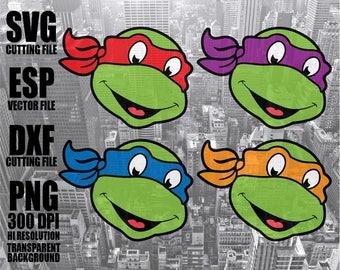 teenage mutant ninja turtle Digital  Download  Clipart SVG Vector file PNG 300dpi