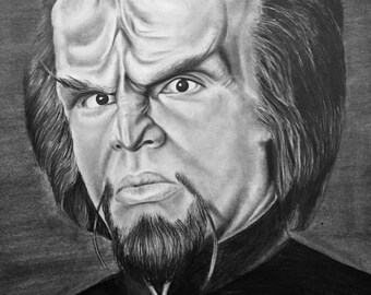 Graphite Drawing-Lieutenant Worf