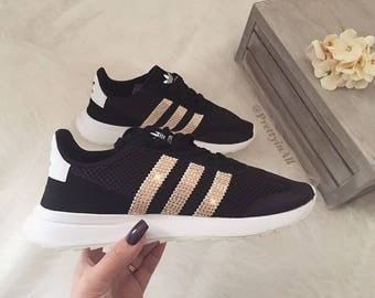 Bling Adidas Flashback in Rose Gold Swarovski Crystals