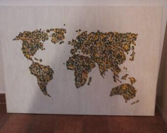 World acrylic abstract