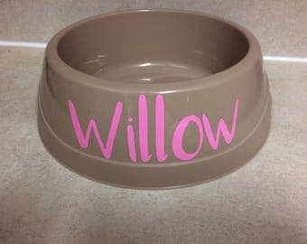 Personalized Pet Bowl, large dog, water bowl, food bowl, pet name bowl, puppy