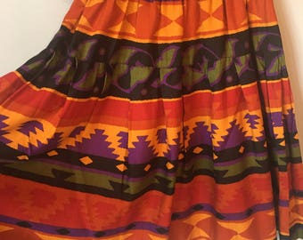 Vintage Women's 90s Aztec Print Skirt