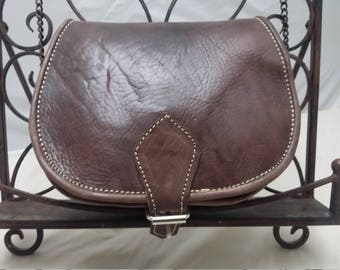 Genuine leather / Hand Bag / Hand Made / Messenger Bag / Gift / Brown / Spring