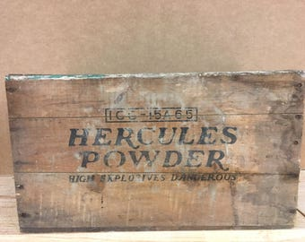 Antique Hercules Black Powder Box