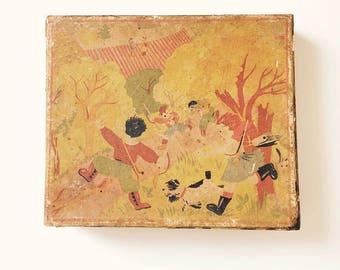 Old wooden puzzle / illustrious cubes
