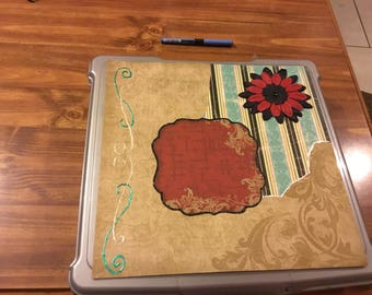 12 x12 Tan and Red Single Page Layout