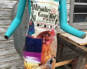 Chicken Feed Bag Apron Gift