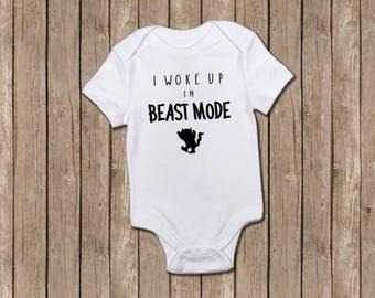 I Woke Up In Beast Mode /baby onesie/baby boy gifts/baby shower/baby shower gifts/baby clothing/newborn baby gifts/baby bodysuits/onesie